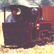 A close-up of Jack Woodroffe in Powys's Cab