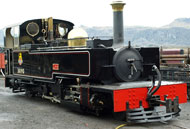 Recently completed LYD. Full size replica of a Manning Wardle 2-6-2 constructed at Boston Lodge