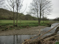 Proposed site of new bridge over the River Rhiw