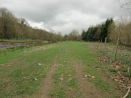The lower extension proposed site of viaduct alongside the River Rhiw